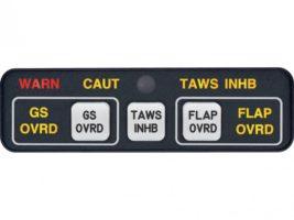 MD41-1248(5V), Model MD-41, TAWS Annunciation Control Unit - 28V, Horizontal, 5V lighting