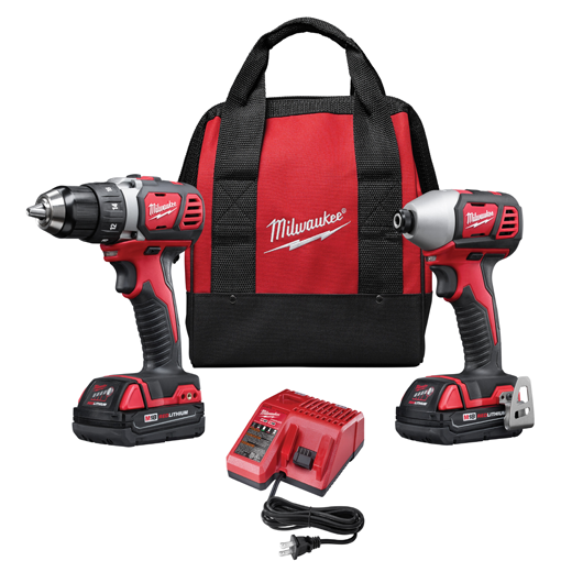 Milwaukee 18V Cordless LITHIUM-ION 2-Tool Combo Kit MLW-2691-22