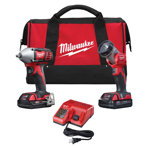 Milwaukee 18V Cordless LITHIUM-ION 2-Tool Combo Kit MLW-2693-22