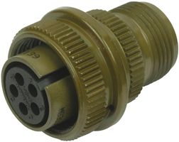 MS3106A14S-5S Connector, 5-pin, With strain relief