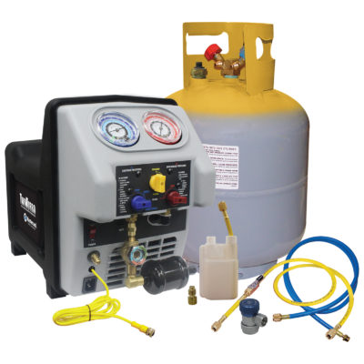 Mastercool MTC-69365 TWIN TURBO REFRIGERANT RECOVERY SYSTEM WITH 50 LB DOT TANK
