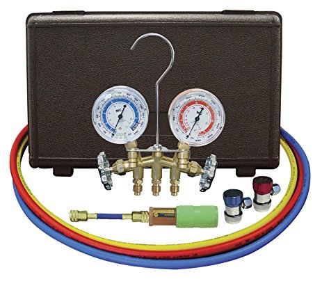 Mastercool MTC-84661 UV, Brass R134A Manifold with UV Dye Kit