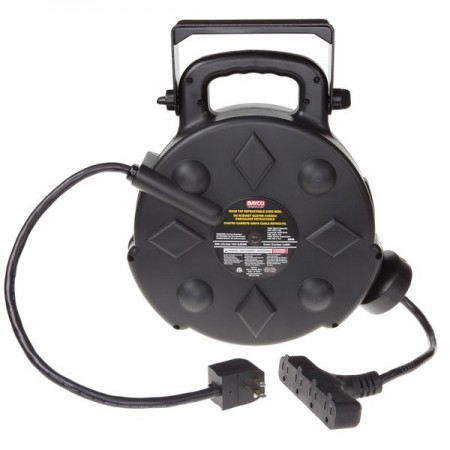 Bayco 50' Retractable Polymer Cord Reel w/All-Weather Cord SL-8906