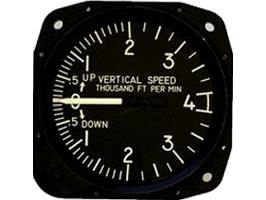 United Instruments 7040C.109 Vertical Speed Indicator, Model #: 7040